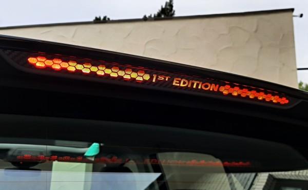 14. Aufkleber mit Schriftzug Bremslicht