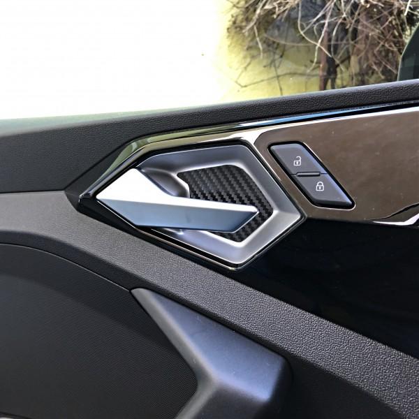 A119-021 Aluminium Einleger Türgriff Carbonoptik