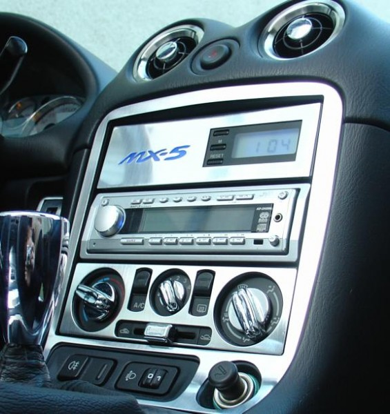1 decorative frame for the center console