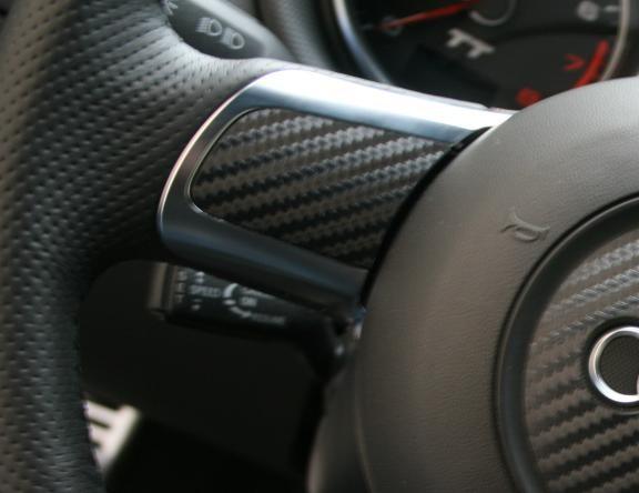 blank fieldscoating Carbonoptik steering wheel spokes