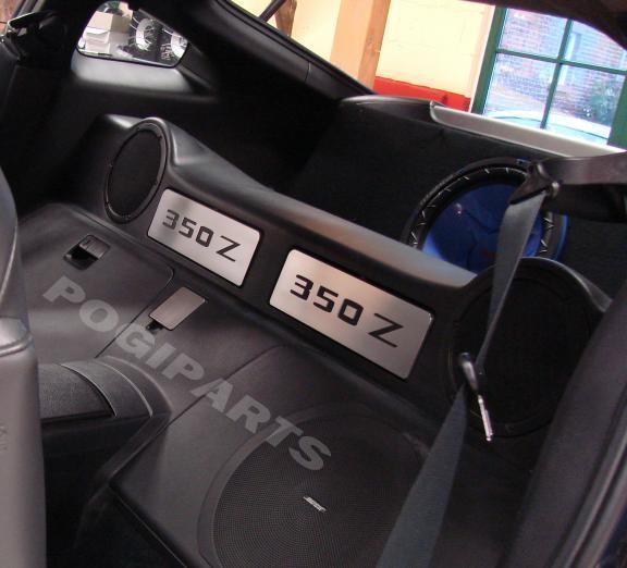 Staufächer hinter den Sitzen Ausschnitt 350Z