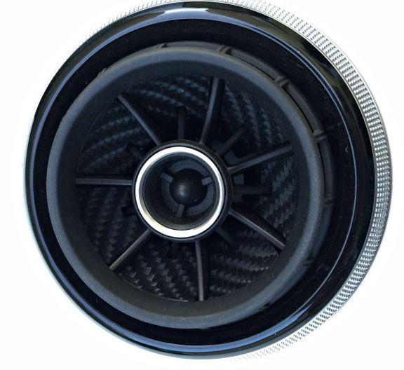 Set of Decorfoil for 4 Vents RS Look Carbon Black