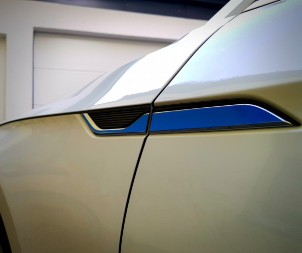 Dekor Kotflügel Blau ohne Logo